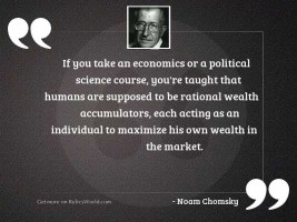 If you take an economics