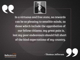 In a virtuous and free