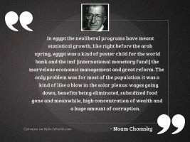 In Egypt the neoliberal programs