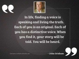 In life, finding a voice