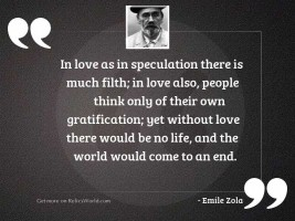 In love as in speculation