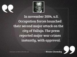 In November 2004, U.S.