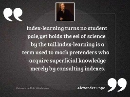 Index learning turns no student