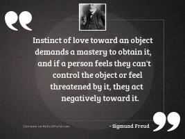 Instinct of love toward an