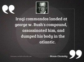 Iraqi commandos landed at George