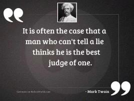 It is often the case