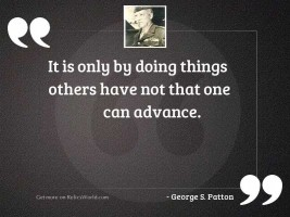 It is only by doing