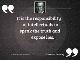 It is the responsibility of