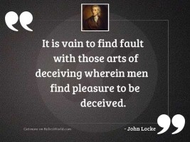 It is vain to find