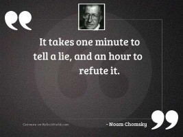 It takes one minute to