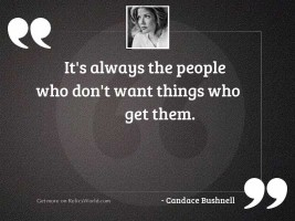 Its always the people who