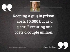 Keeping a guy in prison
