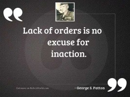 Lack of orders is no