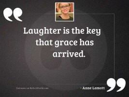 Laughter is the key that