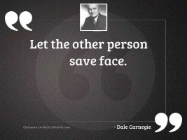 Let the other person save