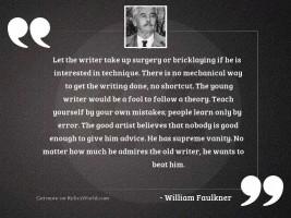 Let the writer take up