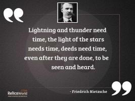 Lightning and thunder need time