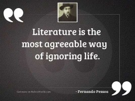 Literature is the most agreeable