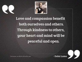 Love and compassion benefit both