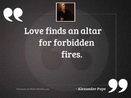 Love finds an altar for