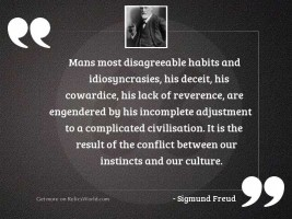 Mans most disagreeable habits and
