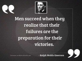 Men succeed when they realize