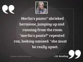 Merlin's pants!  shrieked Hermione,