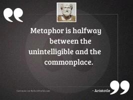 Metaphor is halfway between the