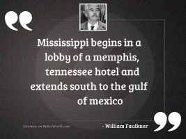 Mississippi begins in a lobby