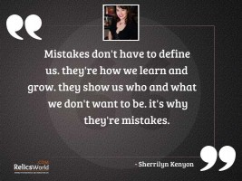Mistakes dont have to define