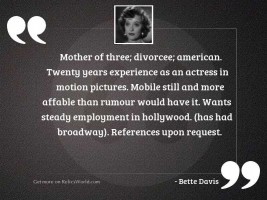 Mother of three divorcee American