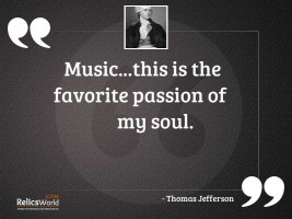 MusicThis is the favorite passion