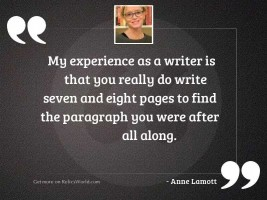 My experience as a writer