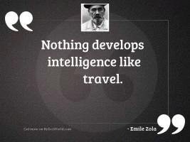 Nothing develops intelligence like travel.