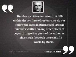 Numbers written on restaurant bills