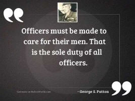 Officers must be made to