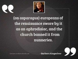 on asparagus europeans of the