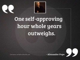 One self approving hour whole