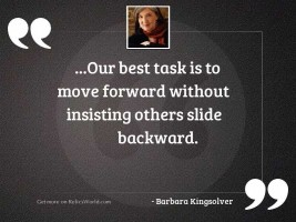 Our best task is to