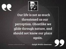 Our life is not so