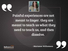 Painful experiences are not meant