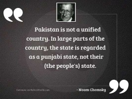 Pakistan is not a unified