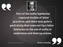 Part of the NAFTA legislation