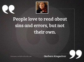 People love to read about