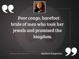 Poor Congo, barefoot bride of