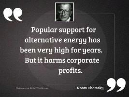 Popular support for alternative energy