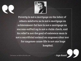 Poverty is not a mortgage