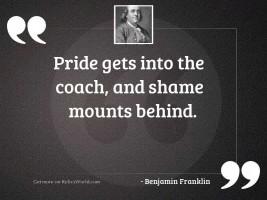 Pride gets into the Coach,