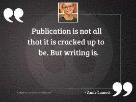 Publication is not all that