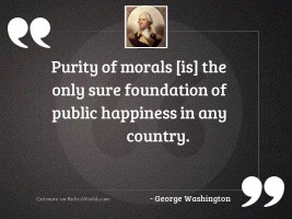 Purity of morals is the